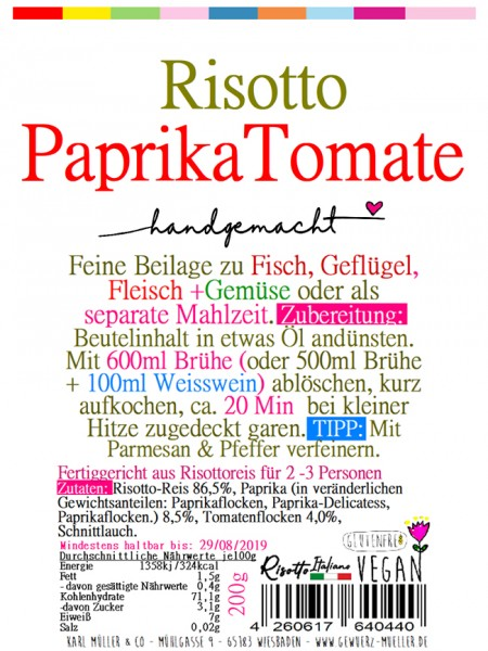 "Risotto - ""Paprika - Tomate"" 200g"