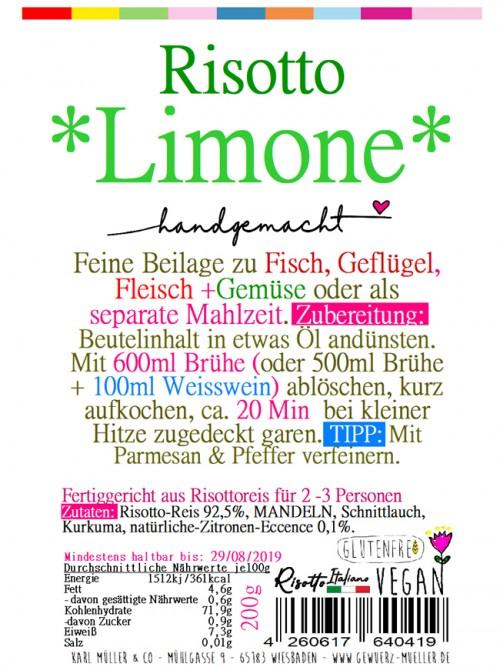 """Risotto - """"Limone"""" 200g"""
