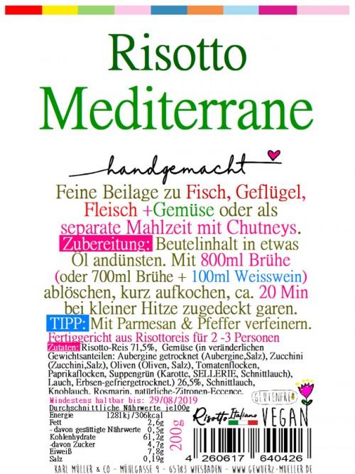 "Risotto - ""Mediterrane"" 200g"