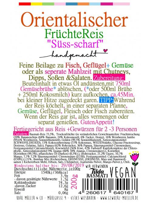 """Orientalischer Früchtereis """"Süß + Scharf"""" 200g"""