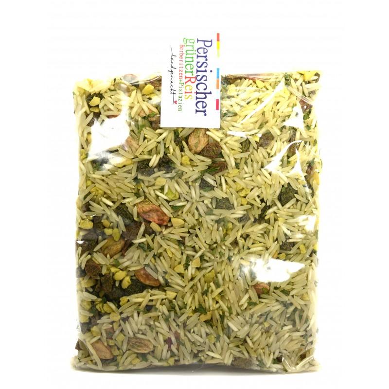 Persischer grüner Reis mit Berberitzen 200g