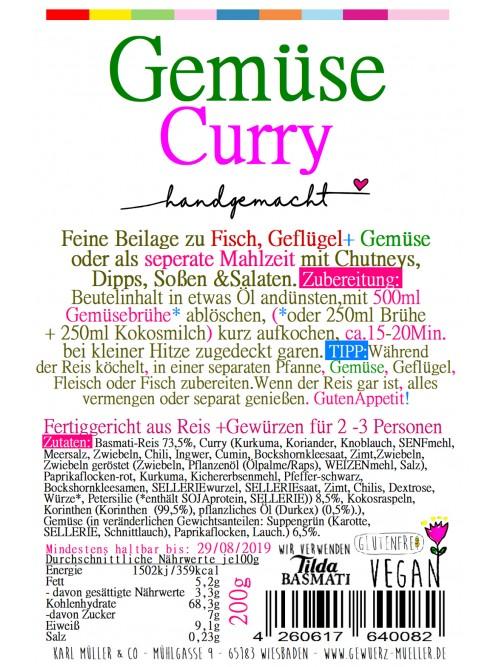 Gemüse Curry  200g
