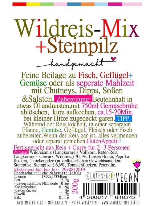Wildreismix + Steinpilze  200g
