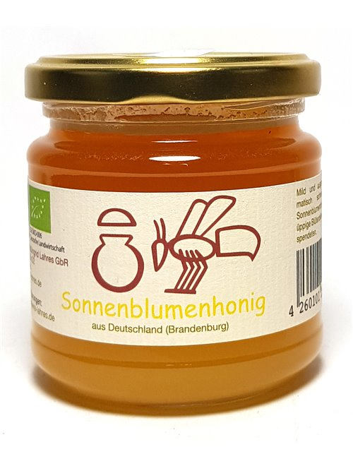 "Lahres ""BIO - Sonnenblumenhonig"" 250g"