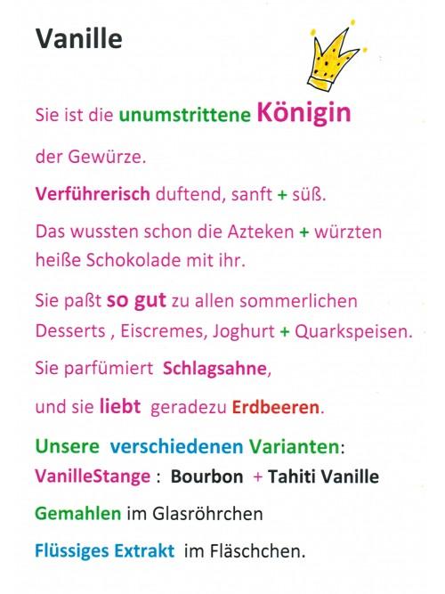 "Vanillestangen ""Gourmet Natur - Vanille"" 2 Stück"
