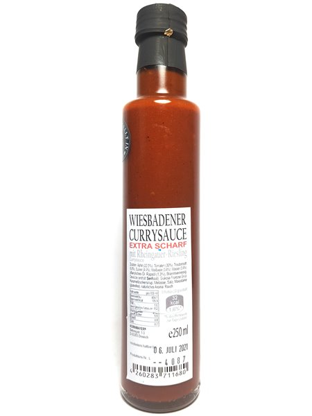 "Kornmayers ""Wiesbadener Currysauce - EXTRA HOT"" 250ml"