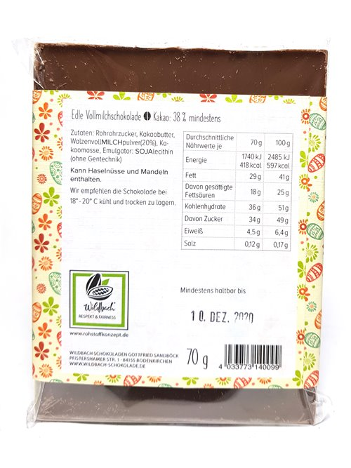 """Wildbach """"Frohe Ostern 38%"""" 70g"""