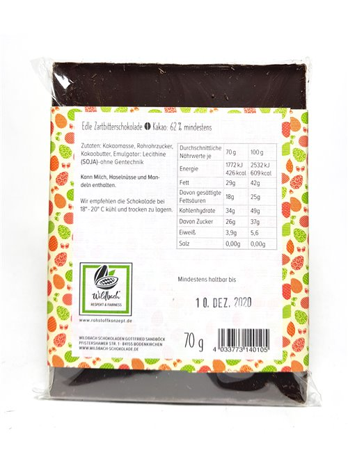"""Wildbach """"Frohe Ostern 62%"""" 70g"""