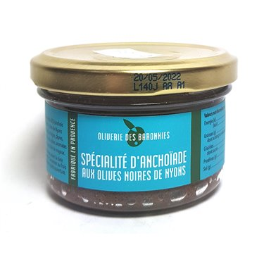"""Tapenade """"Anchovis-Creme mit Nyonce Oliven"""" 90g"""