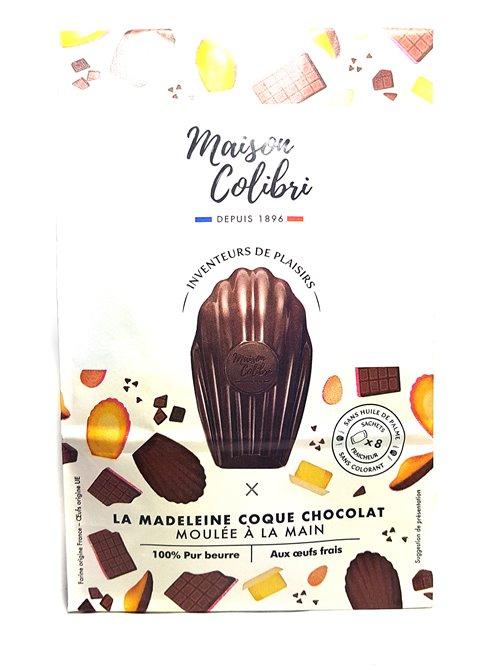 Maison Colibri Madeleines coque chocolat 240g