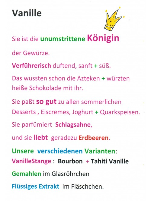 "Vanillestangen ""Gourmet Natur - Vanille"" 5 Stück"