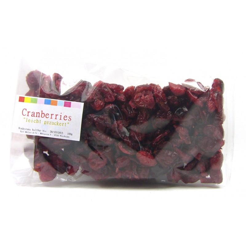 """Cranberry`s """"leicht gesüßt"""" 100g"""