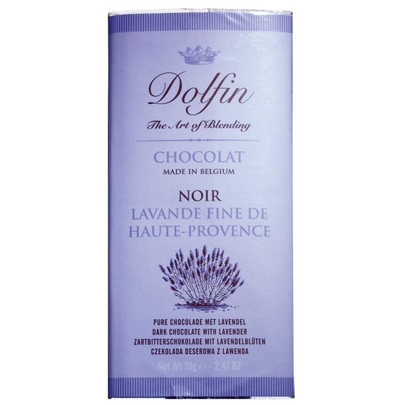 Zartbitterschokolade, mit Lavendel und Vanille 70g